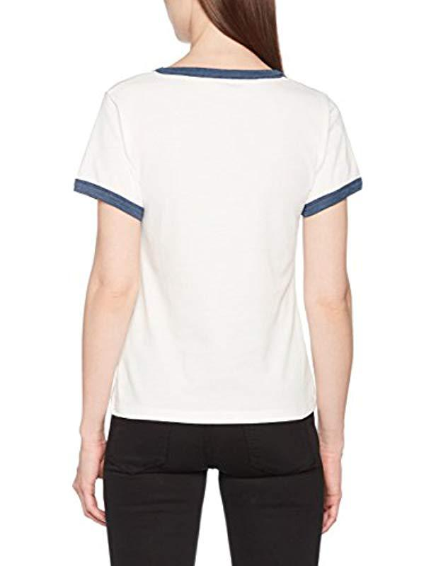 Wrangler Retro Kabel Tee T-shirt in Blue - Lyst 4589fa661