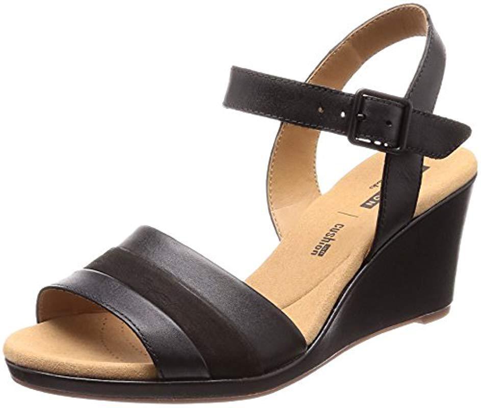 7802c09ab0d4 Clarks  s Lafley Aletha Ankle Strap Sandals in Black - Save 26% - Lyst