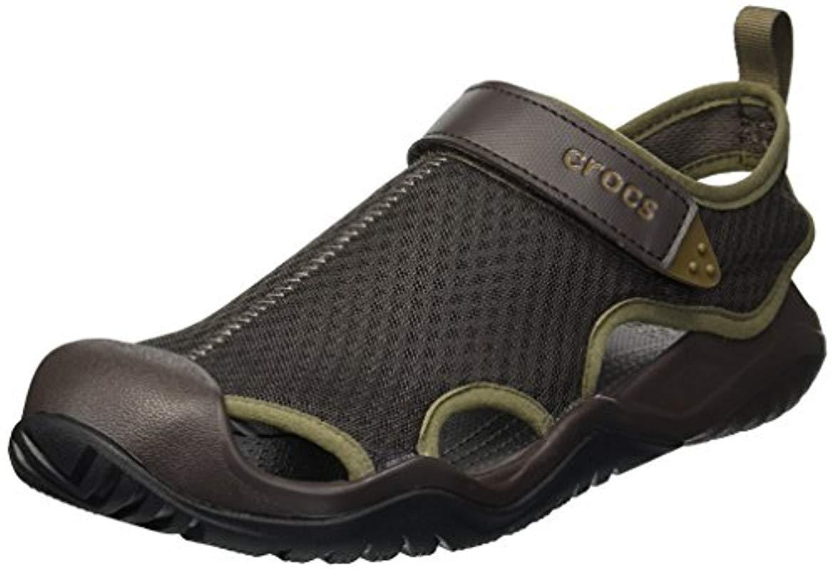 Sandalen Für Mesh Deck Crocs™ Swiftwater Geschlossene Brown Herren In 35Aqc4RjL