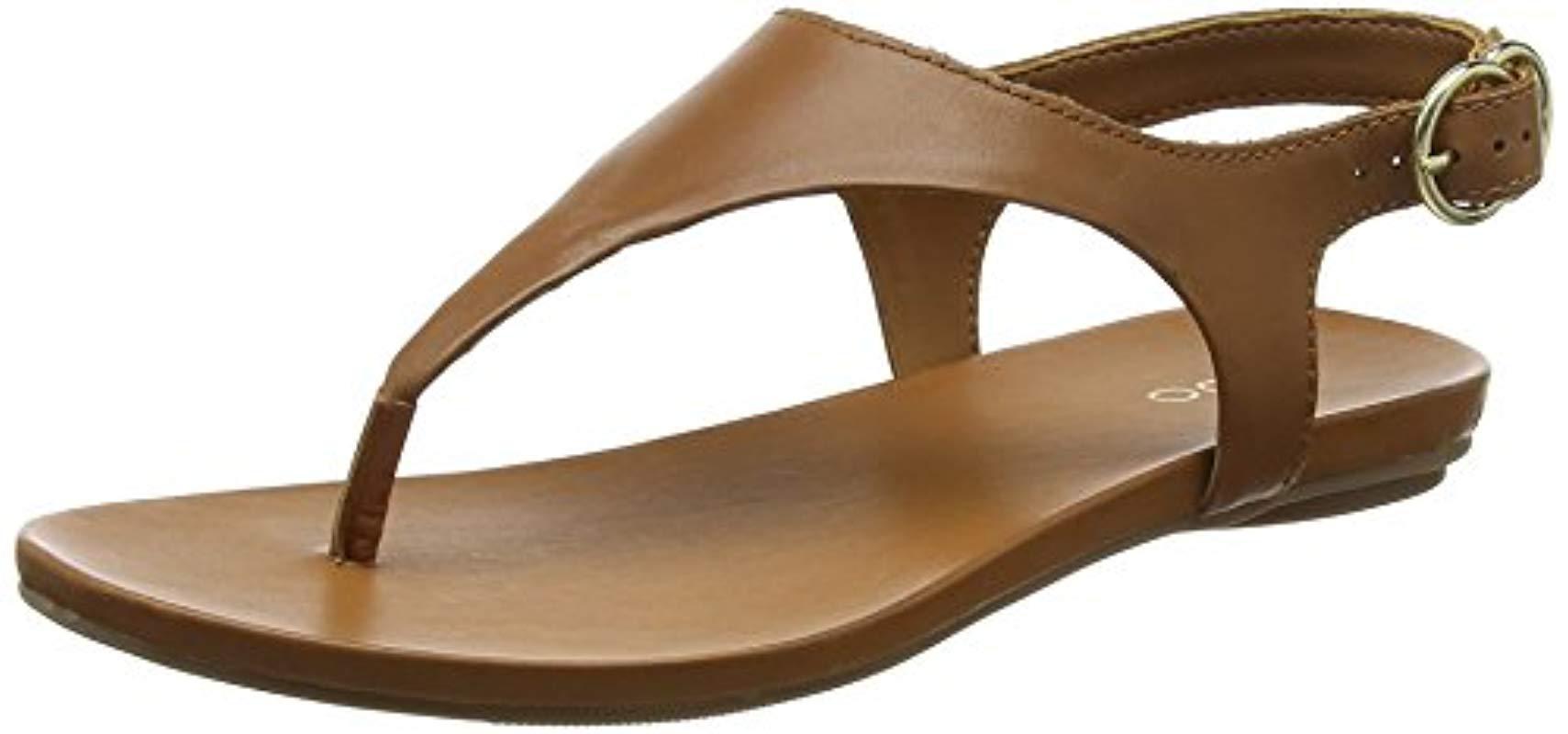 6773fd1340aa Aldo  s Jerilassi Ankle Strap Sandals in Brown - Lyst