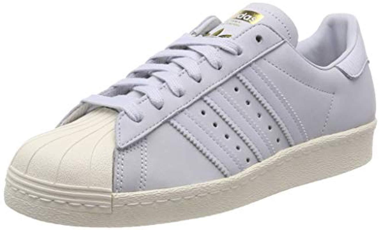 d02a31a70eda1 adidas Superstar 80s Low-top Sneakers in Blue - Lyst