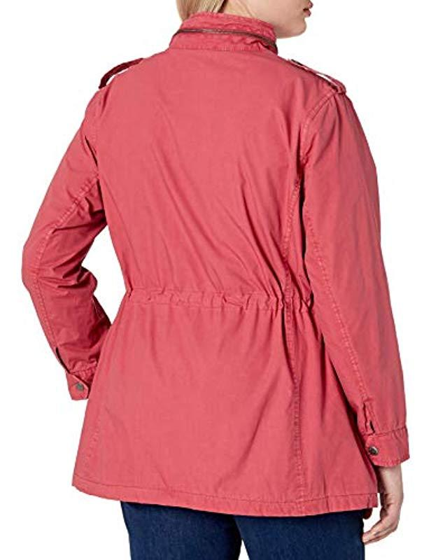 LW8RN671 Veste de survêtement rétro à Capuche. Manches Longues Coupe-Vent Levi's en coloris Rouge