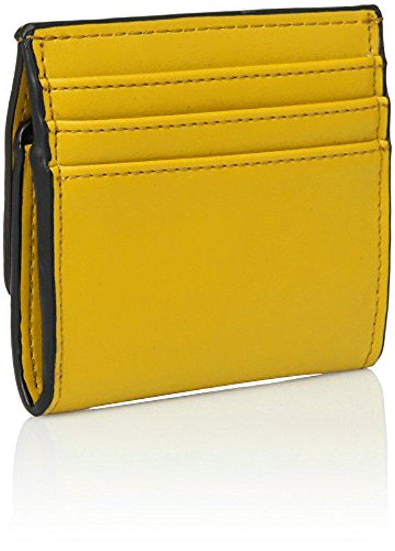 Lyst - Nine West Flap Card And Coin Case in Yellow 0d651110f8e61