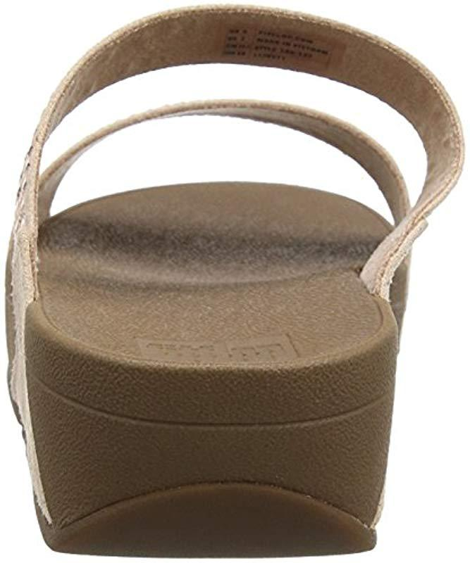 cabb8741e4d1 Fitflop Incastone Slide Sandals in Natural - Lyst