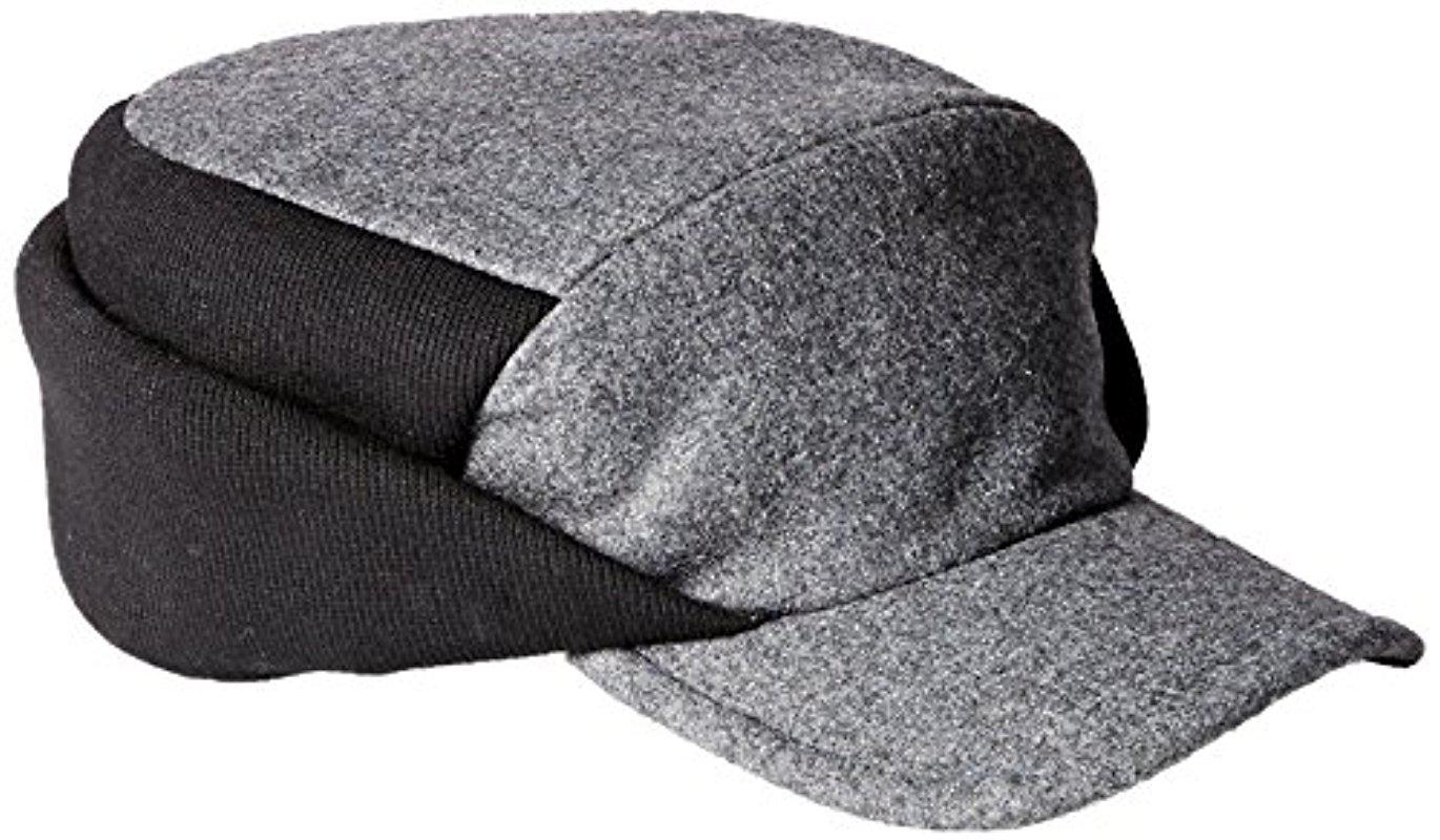 8e9ba971d08f2 Lyst - Dockers 1x1 Rib Knit Hat in Gray for Men