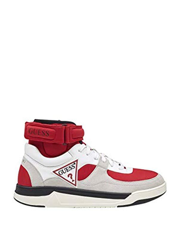 Guess Woody High-top Sneakers in Red