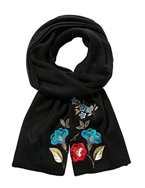 bon marché couleur rapide choisir le plus récent Desigual Buf_caribou Scarf, Black (negro 2000), One (size: U ...