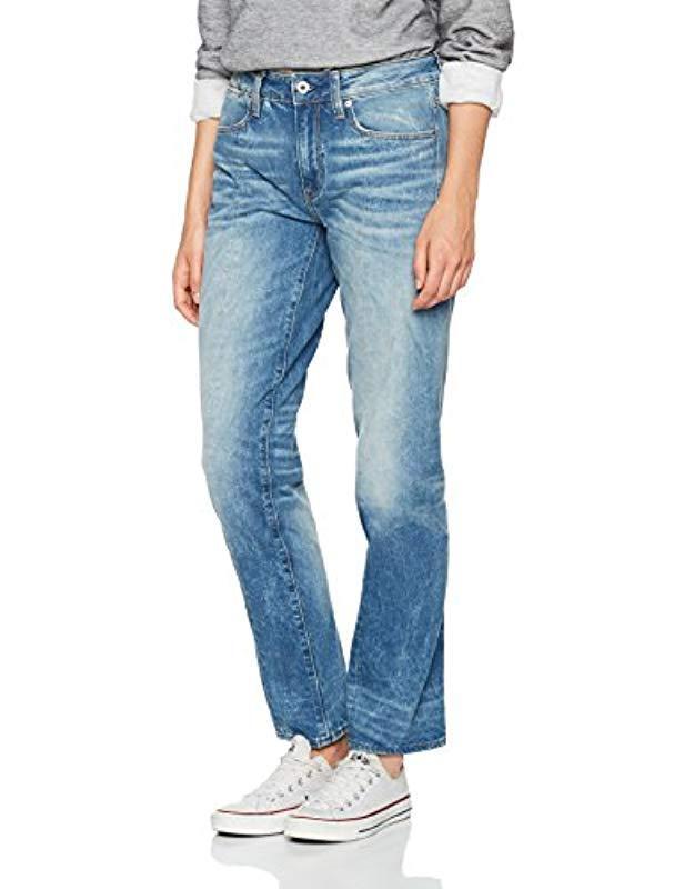 95699b393d3 G-Star RAW Lanc 3d High Waist Straight Jeans in Blue - Lyst