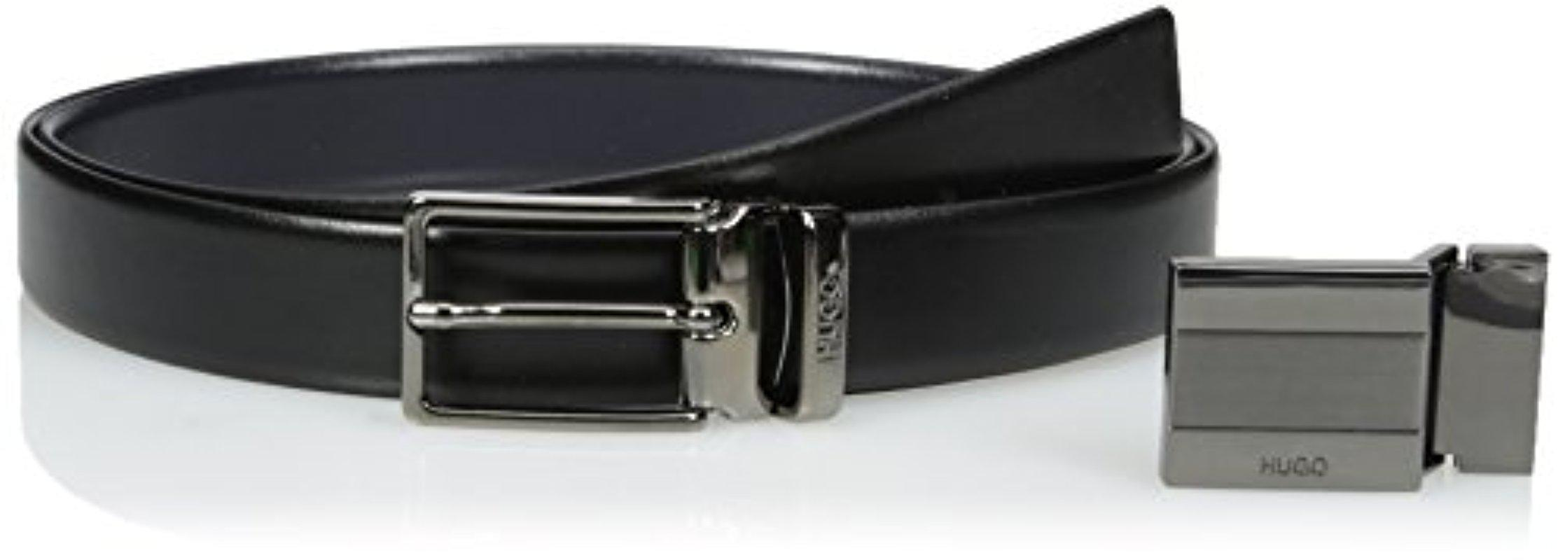 unique style classic style of 2019 detailed pictures Hugo By Gerk Reversible Italian Leather Belt Gift Box Set,