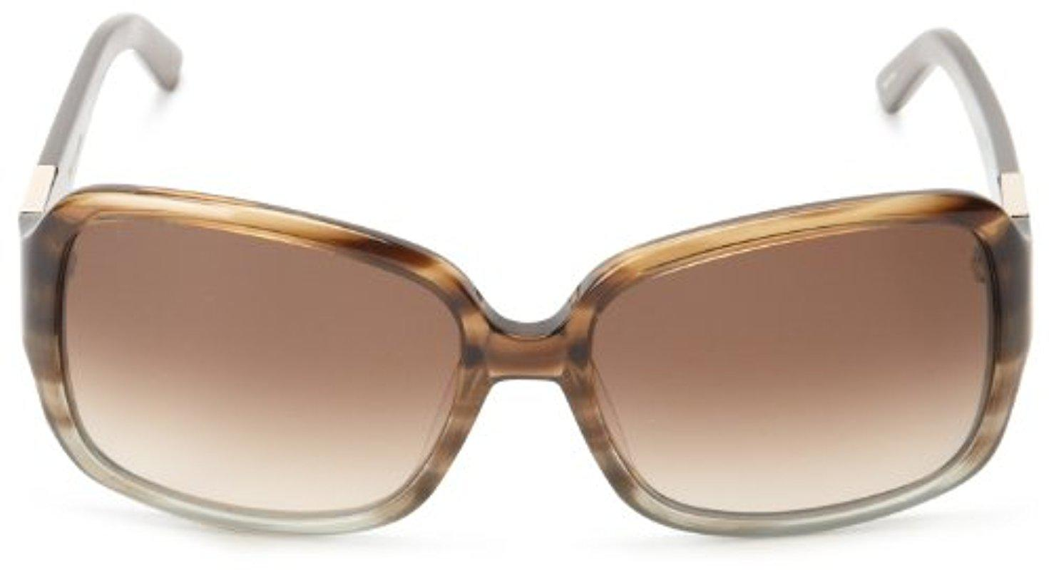 2a4ced679313 Kate Spade Kate Spade Lulu Gradient Rectangle Sunglasses in Brown - Lyst