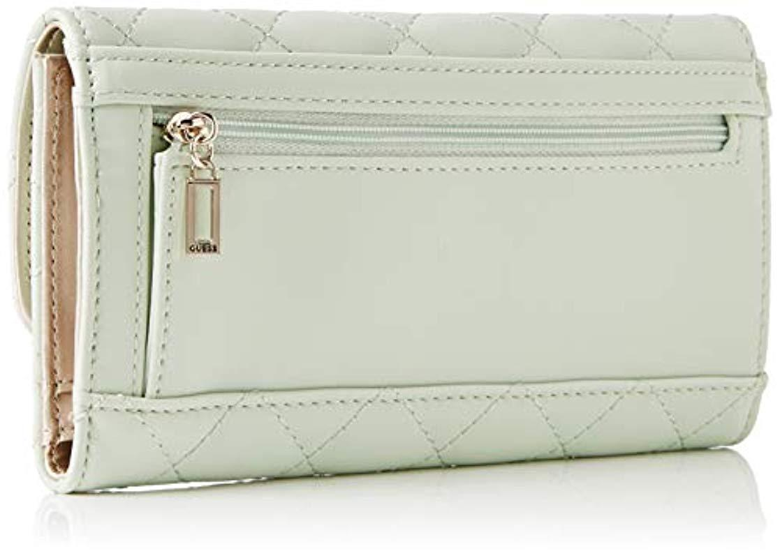 Guess - Multicolor Elliana Slg Pocket Trifold Wallet - Lyst. View fullscreen 325192c37b