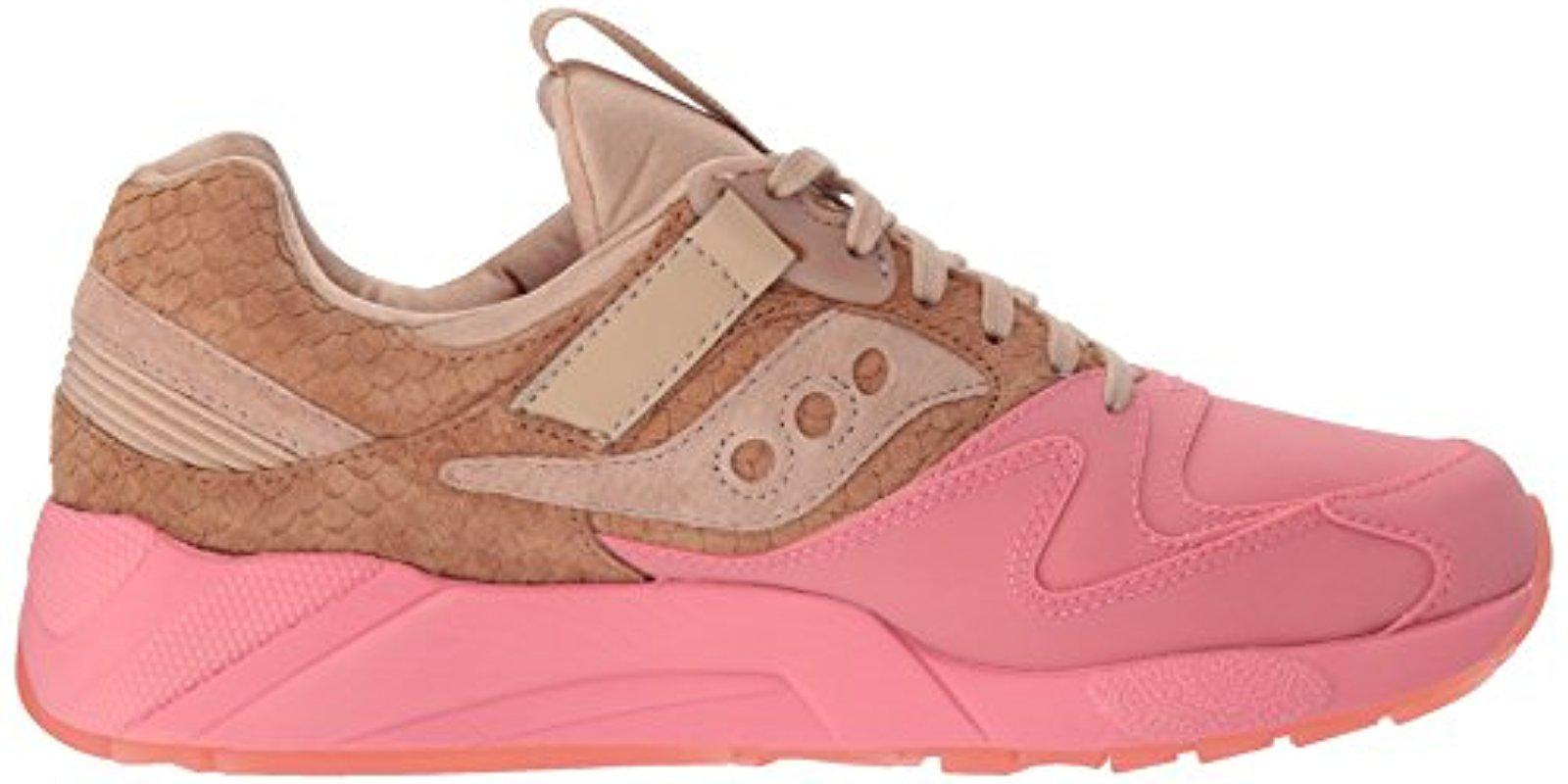pink and tan saucony