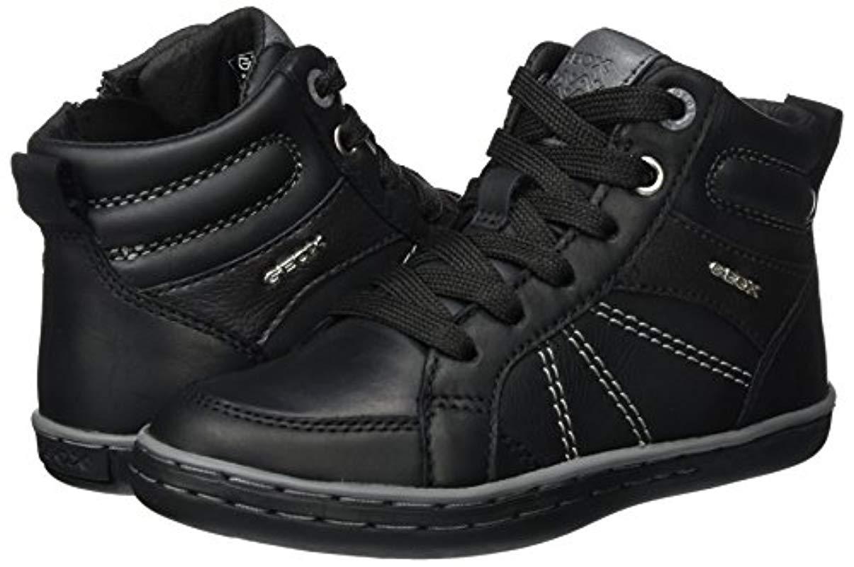 Jr Garcia B, Zapatillas Altas para Niños Geox de hombre de color Negro