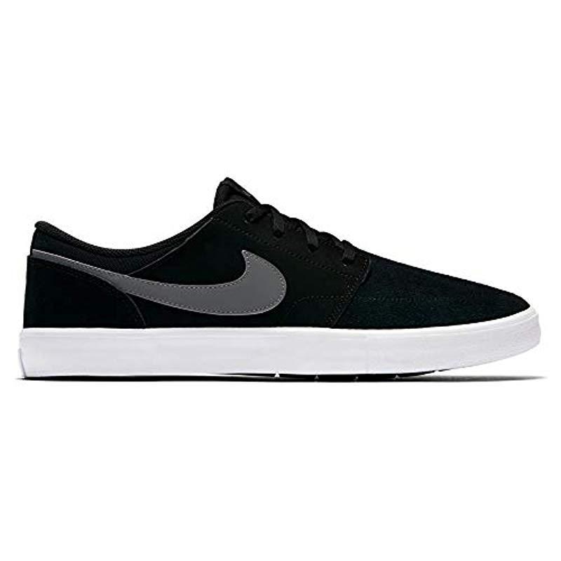 SB Portmore II Solar, Zapatillas de Skateboarding para Niños Nike de hombre de color Negro