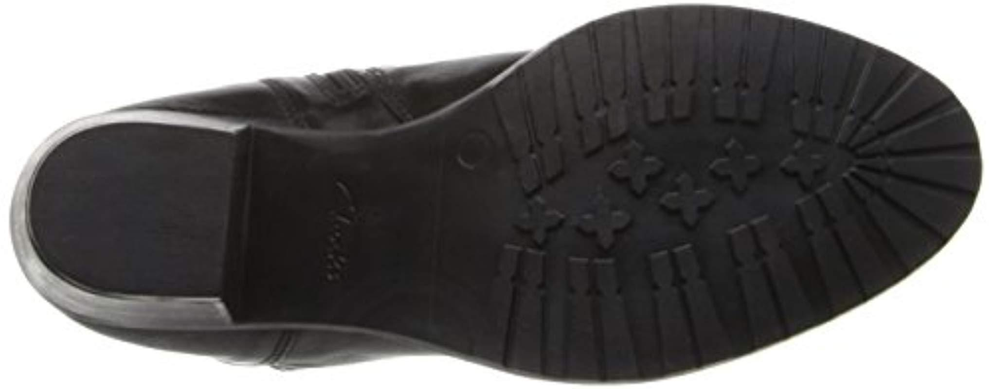 Clarks Synthetic Maymie Skye Boot in Black Leather (Black)