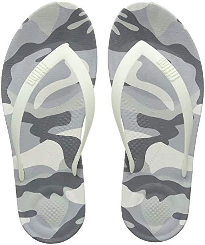 ff54c8ce9bb Fitflop  s Iqushion Camo Open Toe Sandals in White for Men - Save 42 ...