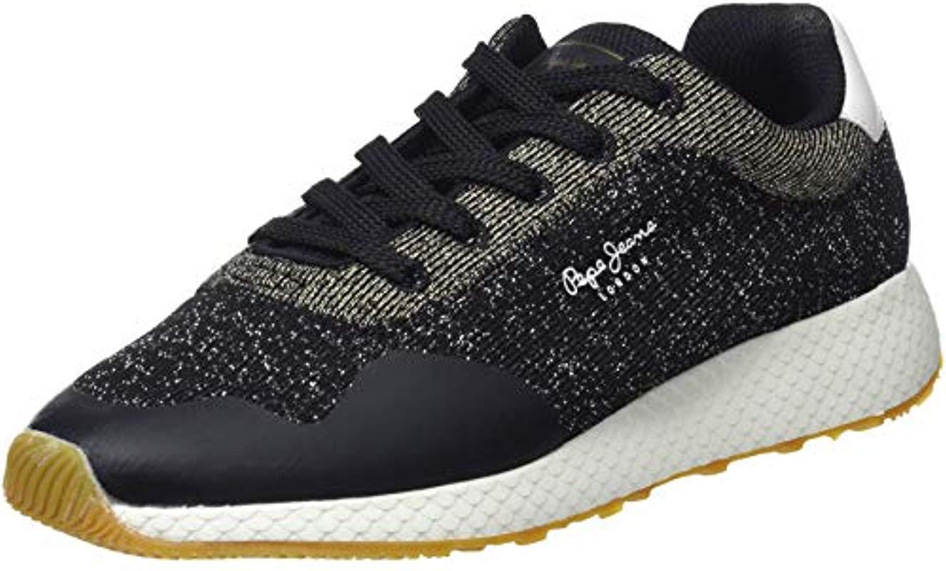 96d13d52c4cd Pepe Jeans  s Koko Sand Low-top Sneakers in Black - Lyst