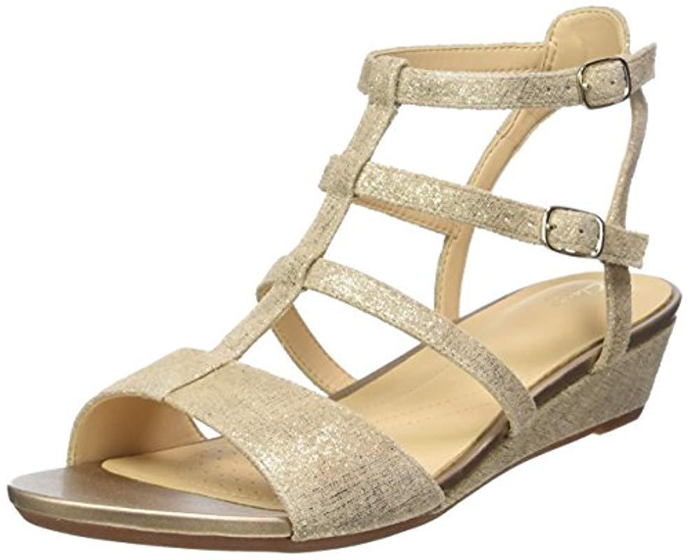 45a7b23e531d7 Clarks Parram Spice Gladiator Sandals in Metallic - Lyst