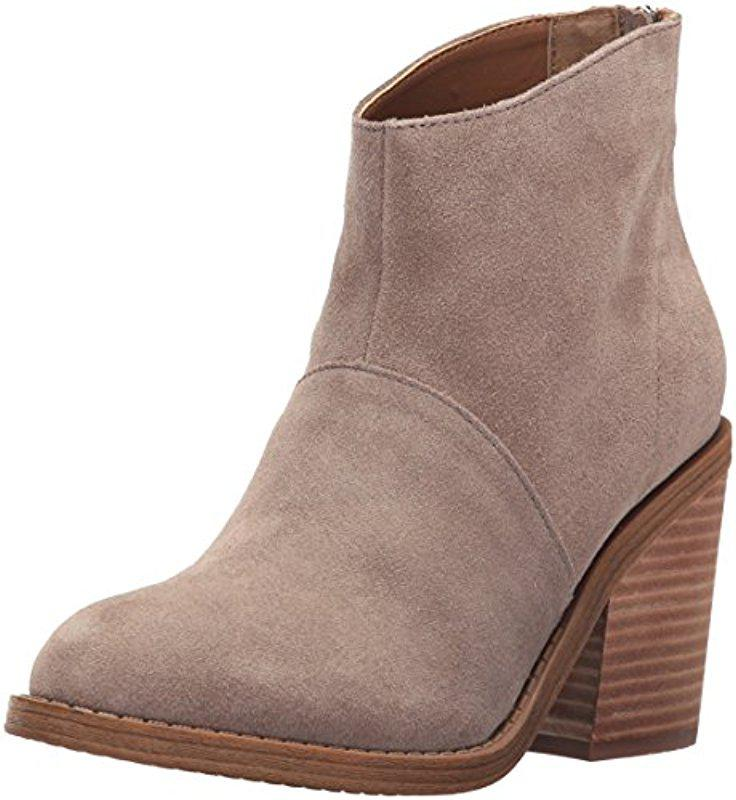 Steve Madden. Women's Brown Shrines Ankle Bootie, Taupe Suede ...