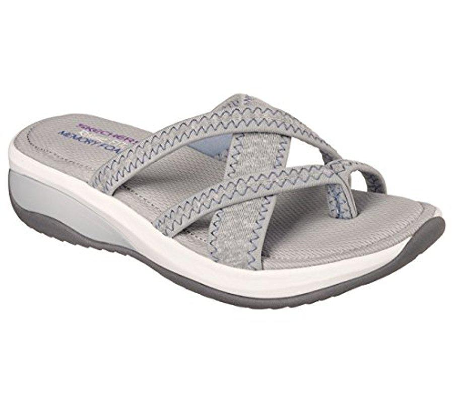 52cee57bbbb0 Lyst - Skechers Cali Promotes-excellence Platform Sandal in Gray