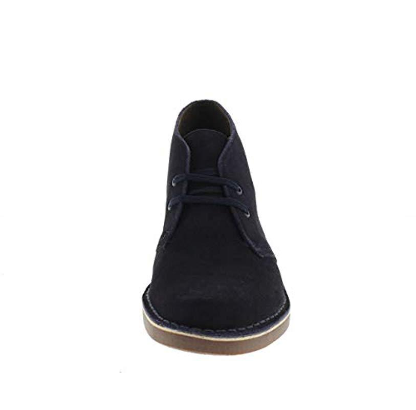 Clarks Bushacre Men/'s Navy Blue Suede Desert Boot 26106782