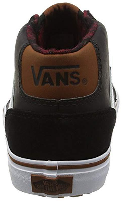38c2e467ee Mte Lyst For Mid Chapman Men Vans Black Top Sneakers Fullscreen View Hi  gS7wtnwz