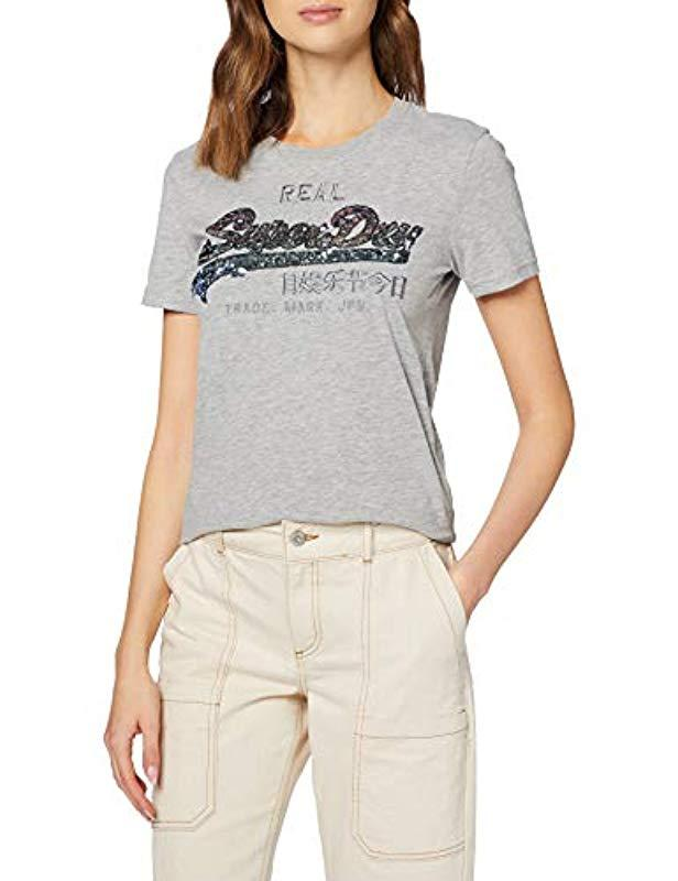 Superdry Swiss Logo Cascade Entry Tee T-Shirt Donna