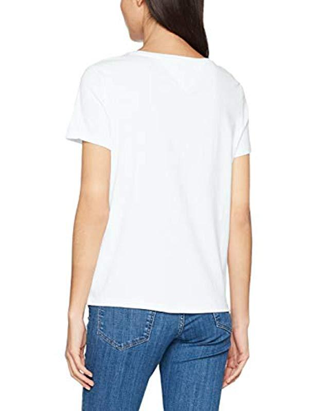 dbc650c1 Tommy Hilfiger Original Soft Jersey Short Sleeve Crew Neck T-shirt in White  - Lyst