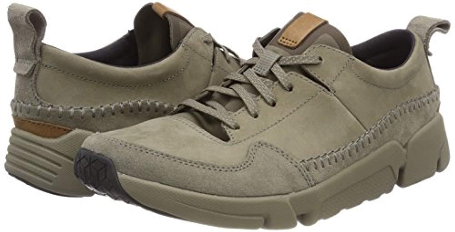 Clarks Mens Sport Shoes Tri Active Run Sage Nubuck