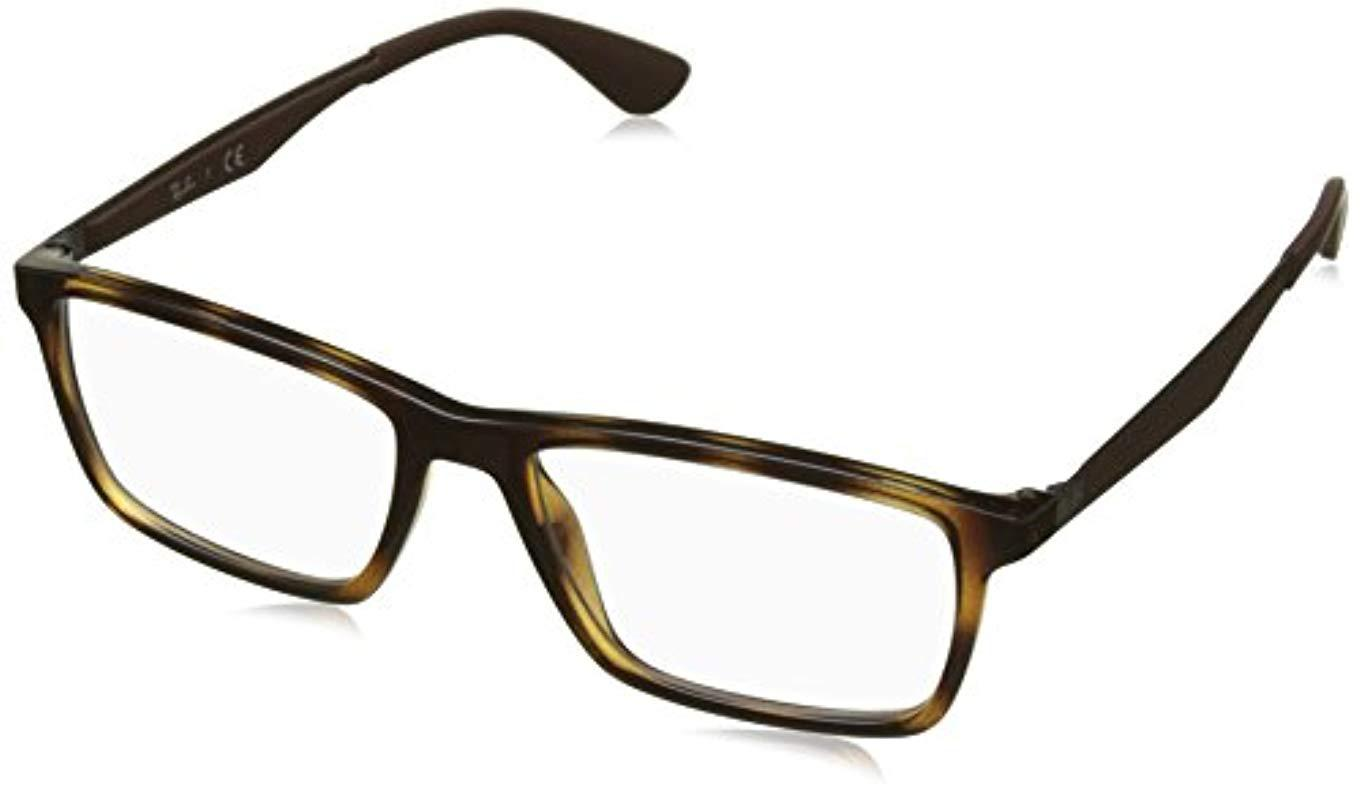 07f664484877 Ray-Ban Rx7056 Glasses In Gloss Black Rx7056 2000 53 in Brown for ...