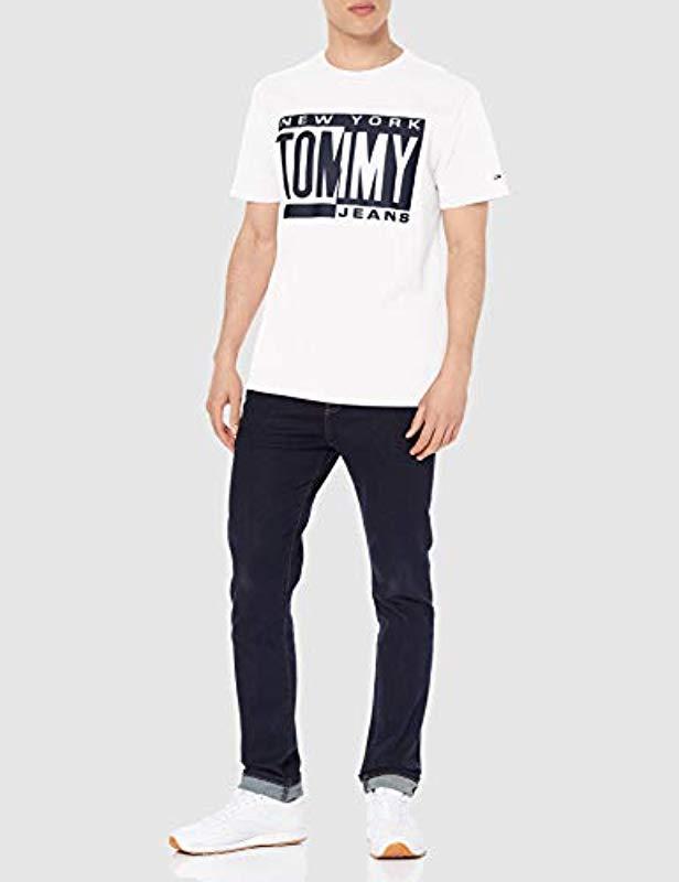 4b4bb6f5 Tommy Hilfiger Tjm Box Logo Tee T-shirt in White for Men - Lyst