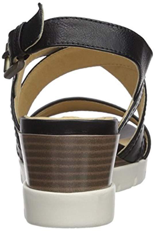 Geox Mary Karmen Plus 1 Wedge Sandal in Black - Lyst 9b359ec066b