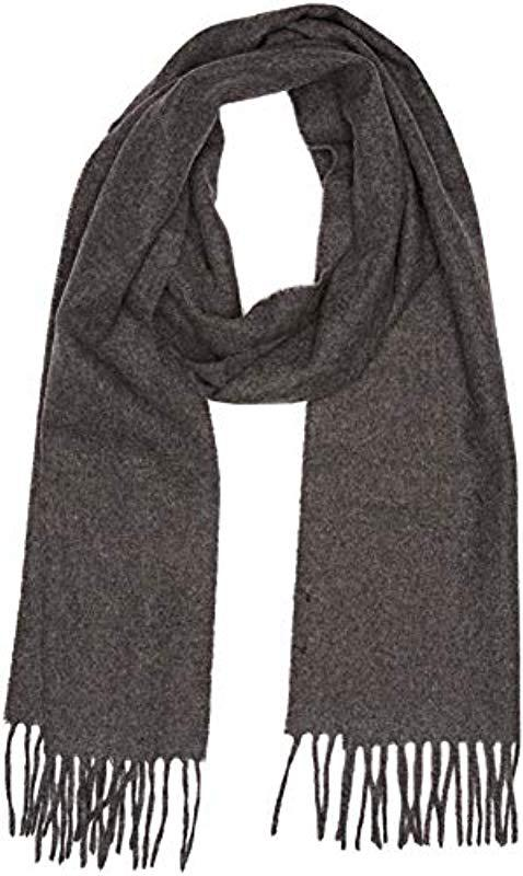 GANT Solid Lambswool Scarf in Gray for Men - Lyst 123b51f6b1816