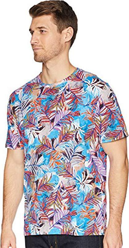 Robert Graham Mens Freshwater Short Sleeve Crew Neck T-Shirt