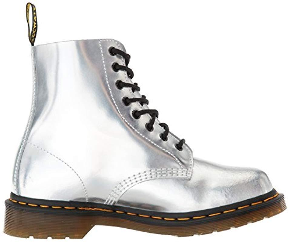 Dr. Martens Leather Pascal Im Ankle Boots in Metallic
