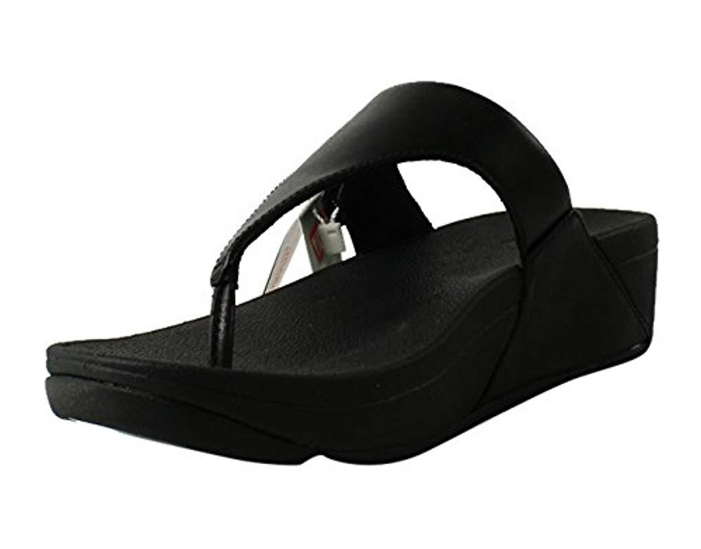 b3828a2bfe19 Fitflop - Black The Skinny Leather Toe-thong Sandals - Lyst. View fullscreen