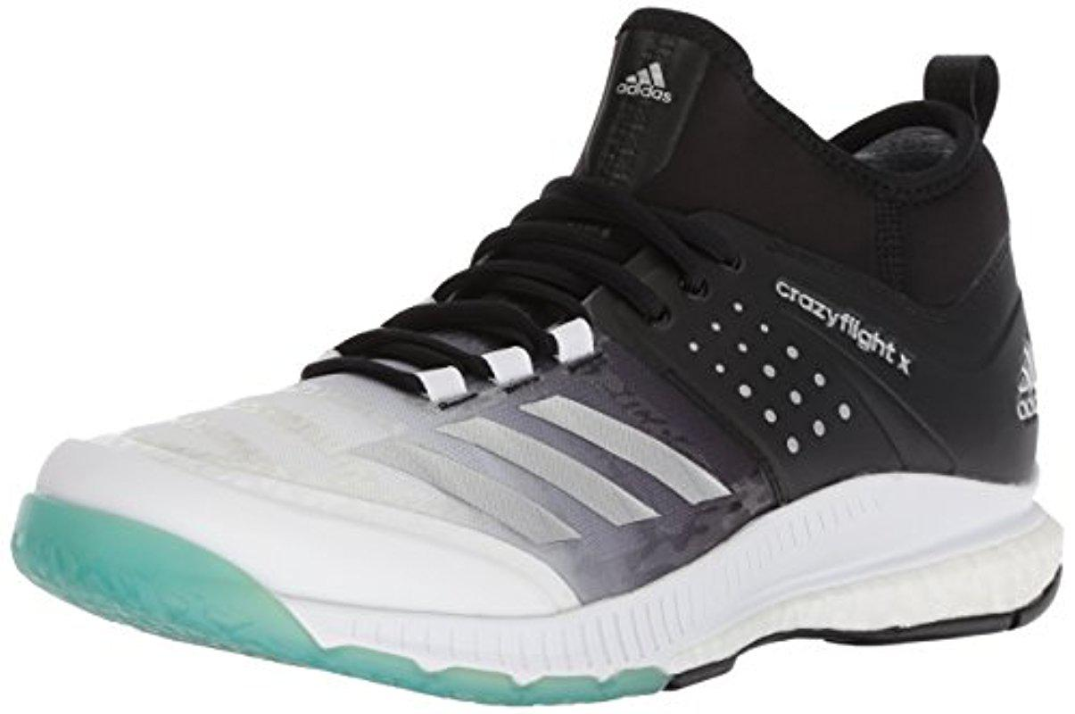 save off 3163c 95bf8 Lyst - Adidas Shoes  Crazyflight X Mid Volleyball Shoe - Whi