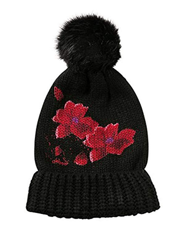 Desigual Red Flowers Hat 17wahk03 in Black for Men - Save 53% - Lyst 0eabe4ecd64