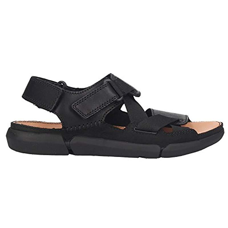 milagro Inflar Circular  Clarks Leather Sandals 26133292 Trisand Sun Black for Men - Lyst