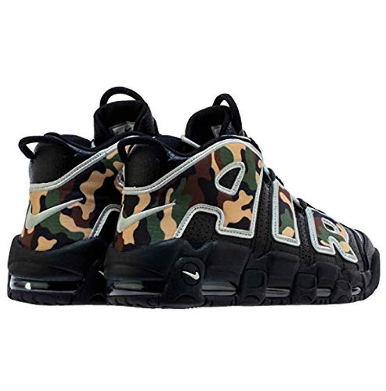 More Uptempo '96 Sneaker Shoes In Camo Leather Cj6122 001