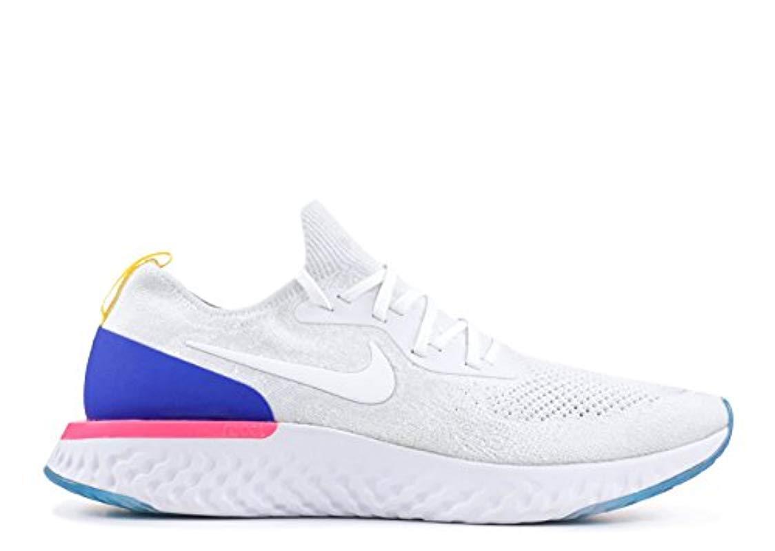 98cdeda9d1ecc Nike 's Epic React Flyknit Fitness Shoes in White for Men - Lyst