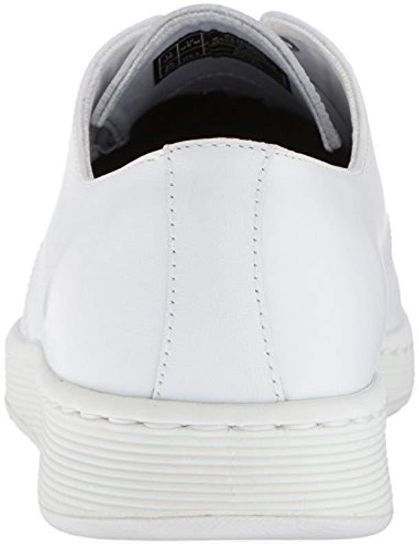 Dr. Martens Leather Cavendish White Mono Sneaker