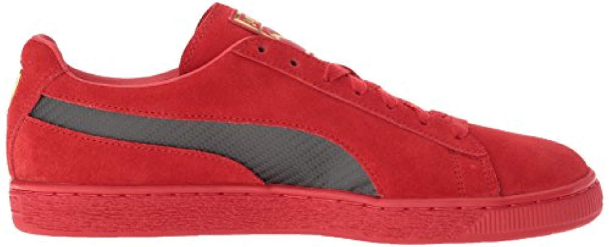 PUMA Ferrari Suede 50 Sneaker in Red