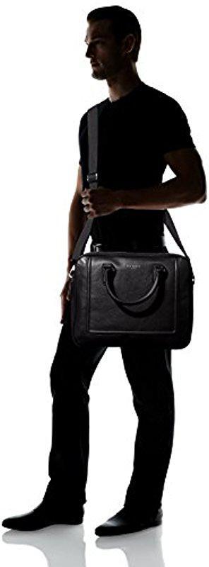 ad6a056ec39419 Lyst - Ted Baker Ragna Leather Bowler Bag in Black for Men