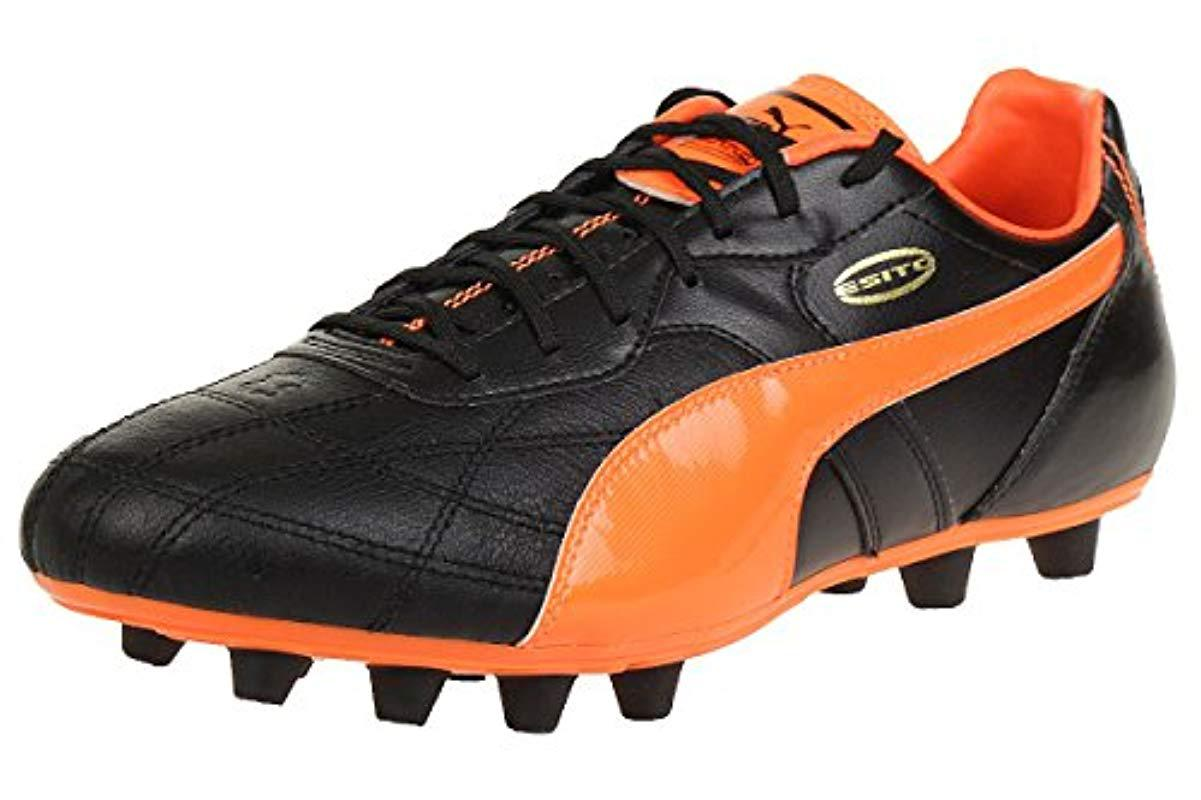 5fa8a7ad Men's Black Esito Classico Firm Ground, Football Training Shoes