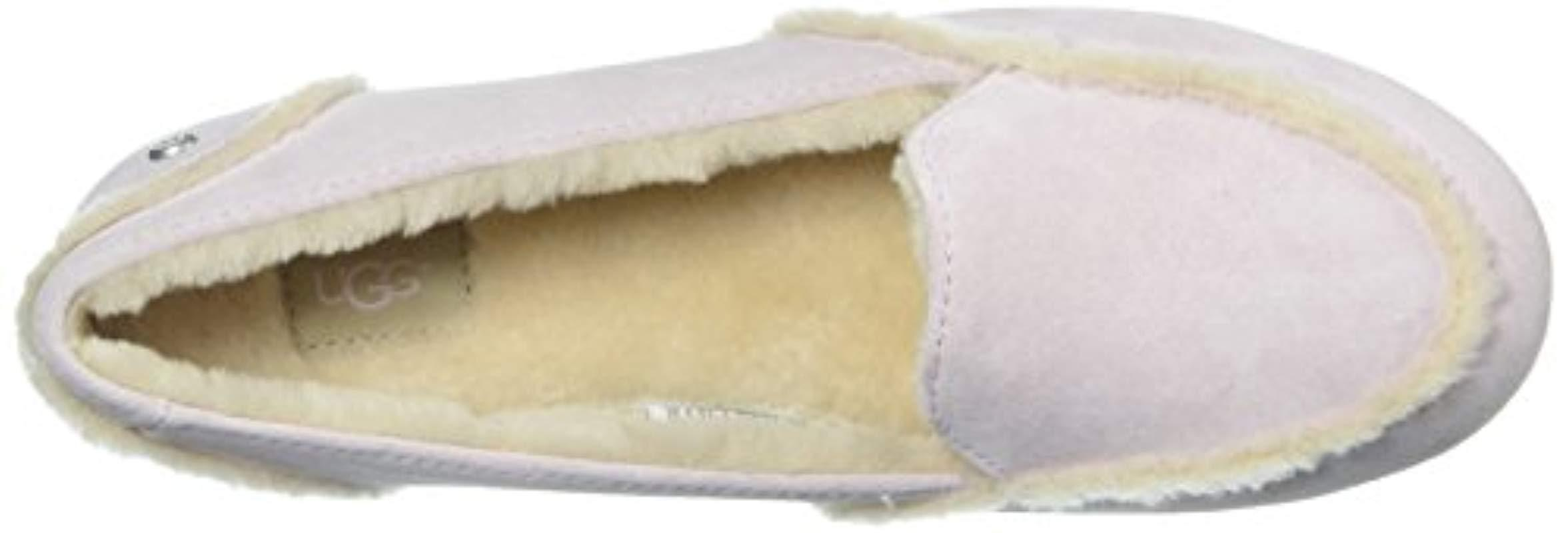 42f3263b011 Lyst - UGG Hailey Suede Loafers in Pink