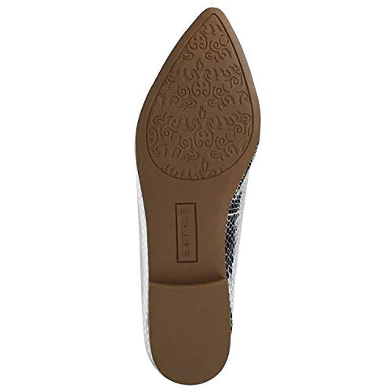 Loafer Flat Esprit en coloris Métallisé