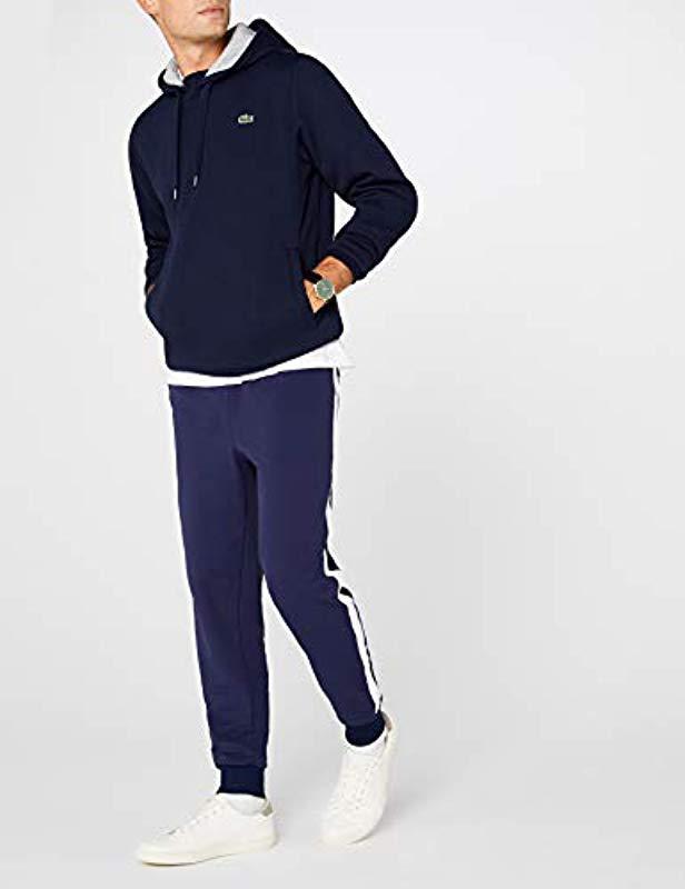 1aa92643c1 Lacoste Sport Cotton Blend Hoodie in Blue for Men - Lyst