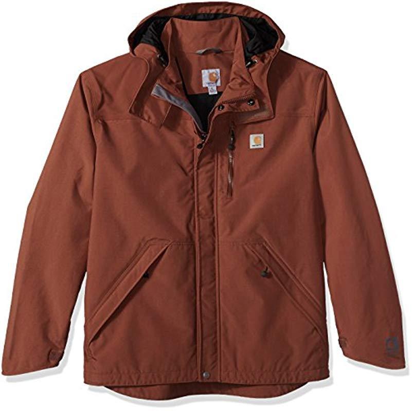 3cbff430a8a11 Carhartt - Multicolor Big And Tall Big & Tall Shoreline Jacket Waterproof  Breathable Nylon for Men. View fullscreen