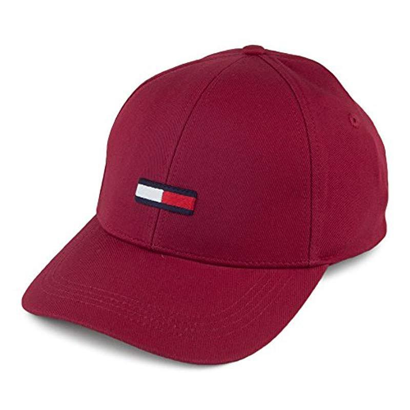 Tommy Hilfiger Tju Flag Baseball Cap in Red for Men - Lyst 7d3e3c609c